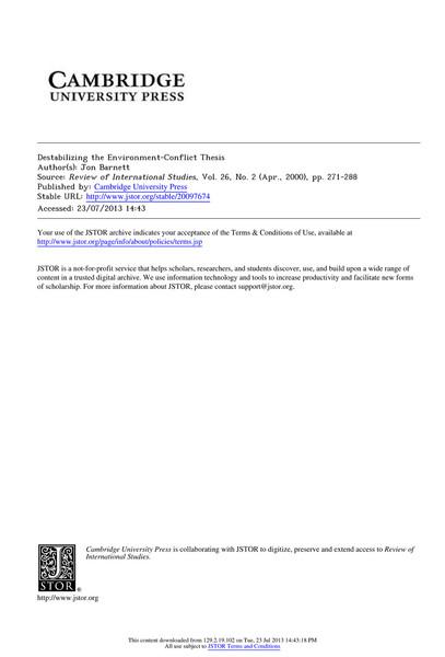 barnett-2000-Destabilizing-the-Environment-Conflict-Thesis.pdf