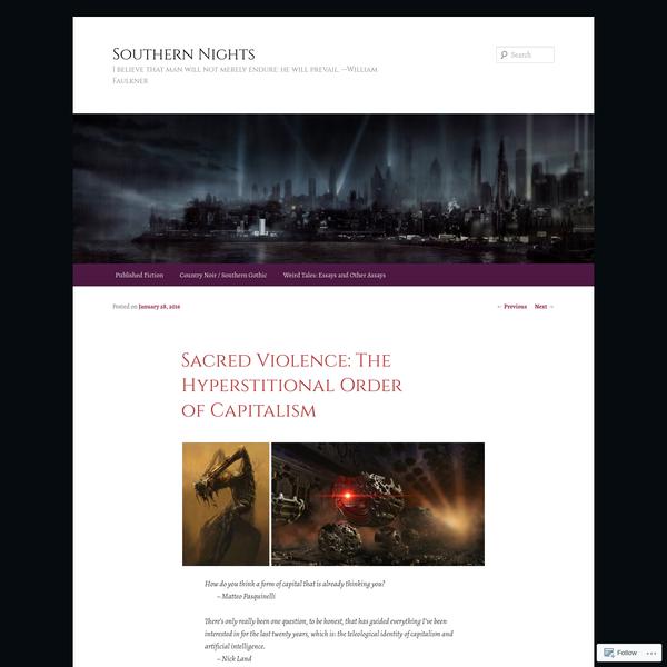 Sacred Violence: The Hyperstitional Order of Capitalism