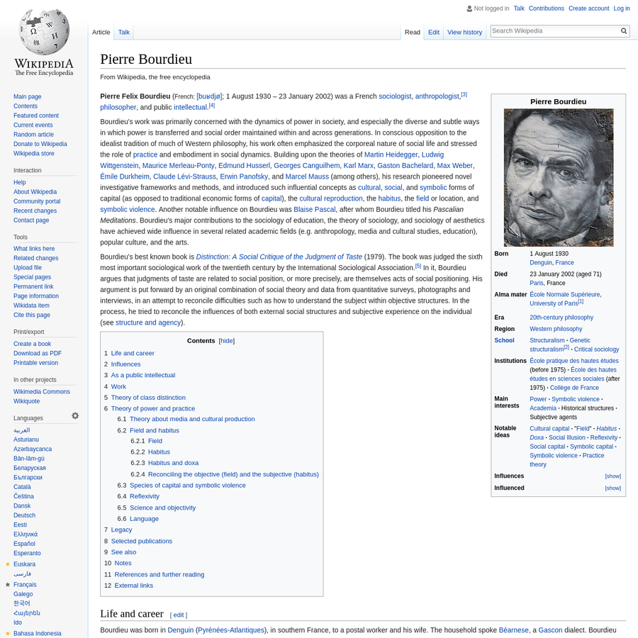 Are Pierre Bourdieu Wikipedia