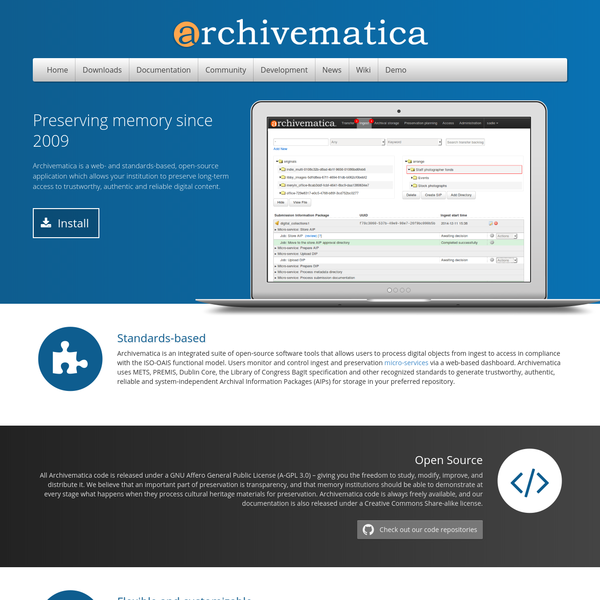 Archivematica: open-source digital preservation system
