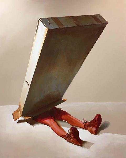 Box No. 19, oil on canvas, 48x60 inches, Craig Hawkins