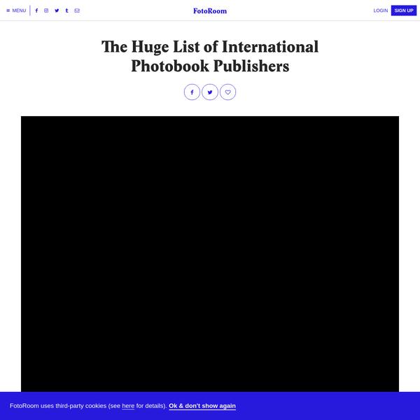 The Huge List of International Photobook Publishers