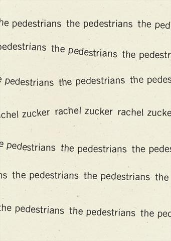 *The Pedestrians* by Rachel Zucker, 2014  Recommended by [Stephanie Danler](https://thecreativeindependent.com/people/stephanie-danler-on-having-your-first-book-blow-up/)