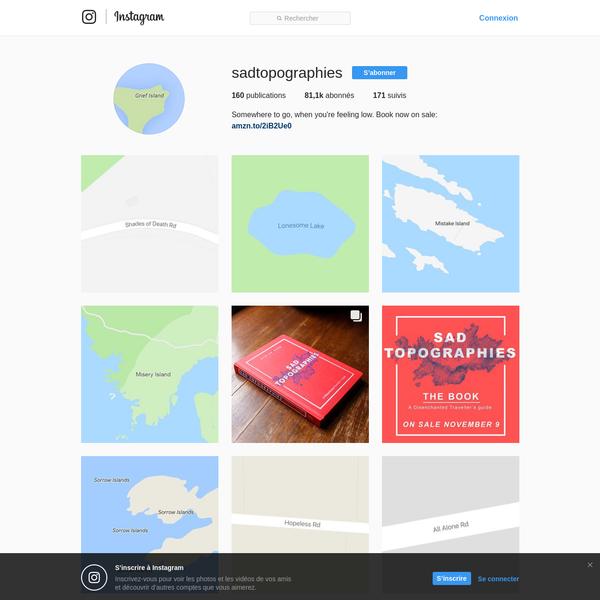 @sadtopographies * Photos et vidéos Instagram