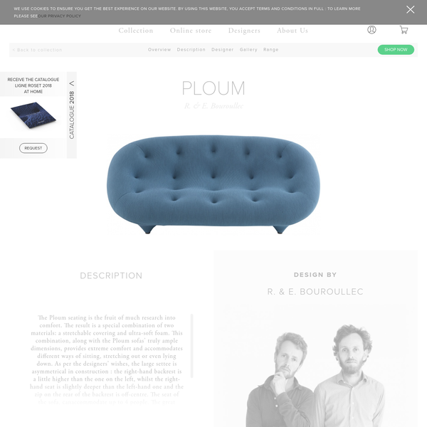 PLOUM, Sofas - The Ploum seating is the fruit of much research into comfort. The result is a special combination of two materials: a stretchable cover