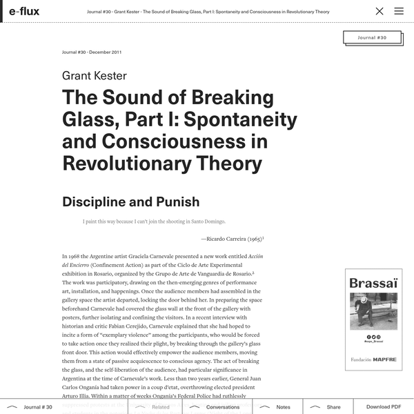 The Sound of Breaking Glass, Part I: Spontaneity and Consciousness in Revolutionary Theory