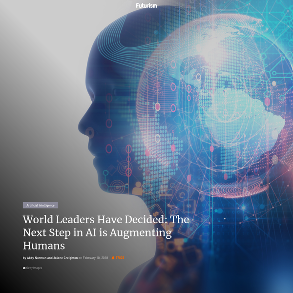 Exclusive: World leaders just decided that the next step in AI is augmenting humans