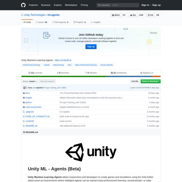 Unity-Technologies/ml-agents