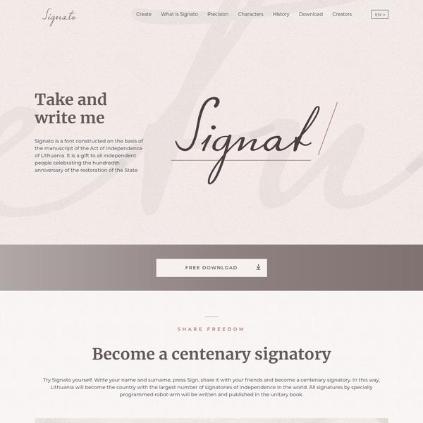 Main page - Signato
