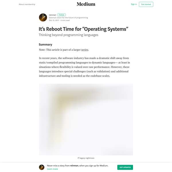 """It's Reboot Time for """"Operating Systems"""" - reinman - Medium"""