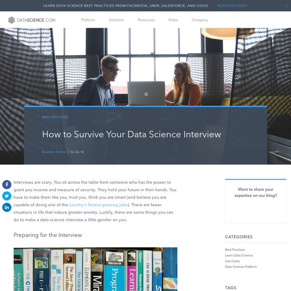 How to Survive Your Data Science Interview
