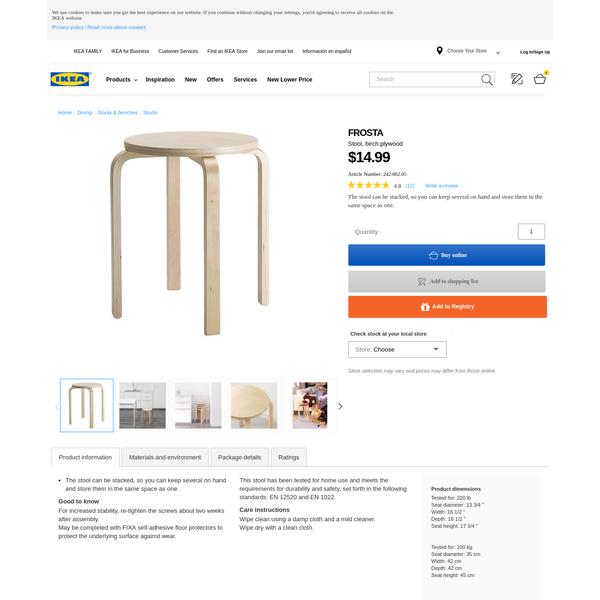 FROSTA Stool - IKEA