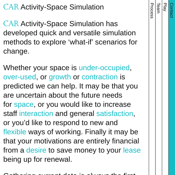 CAR - Activity-Space Simulation