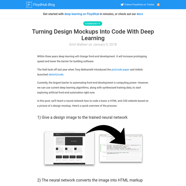 FloydHub - Deep Learning Platform - Cloud GPU