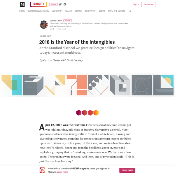 2018 Is the Year of the Intangibles - BRIGHT Magazine