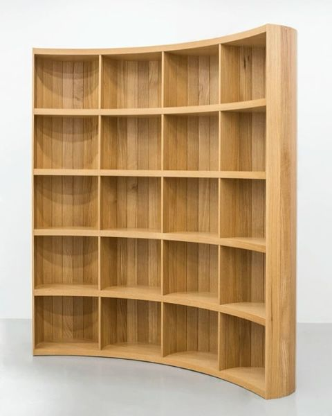"""""""No-Thing: An exploration into aporetic architectural furniture"""" has been extended through April 14th, 2018. """"Freestanding Bookshelf,"""" 2017 by @jaworskaania."""