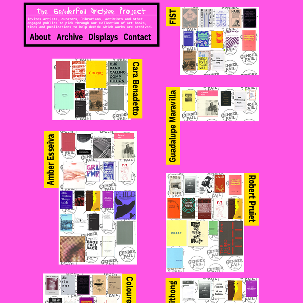 invites artists, curators, librarians, activists and other engaged publics to pick through our collection of art books, zines and publications to help decide which works are archived.
