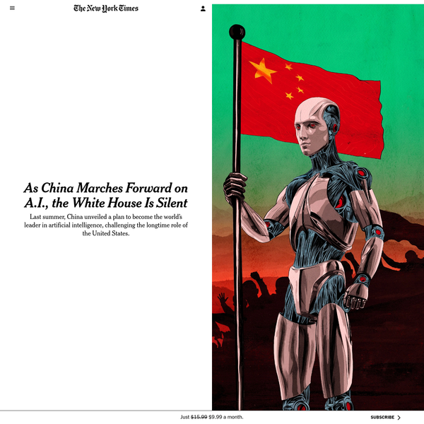 As China Marches Forward on A.I., the White House Is Silent
