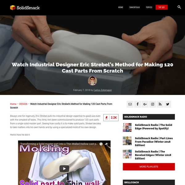 Watch an Industrial Designer Make 120 Cast Parts From Scratch