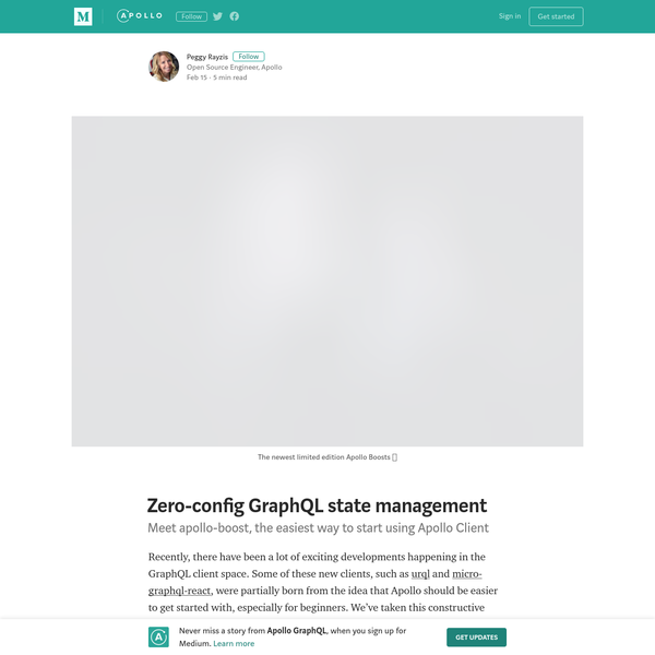 Zero-config GraphQL state management - Apollo GraphQL