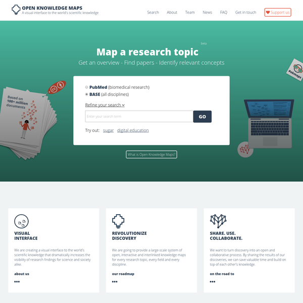 Open Knowledge Maps - A visual interface to the world's scientific knowledge