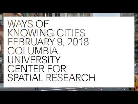 Ways of Knowing Cities