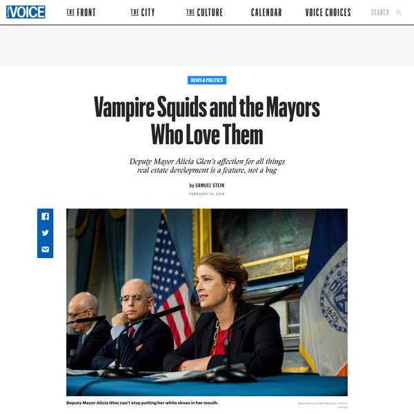 Vampire Squids and the Mayors Who Love Them | Village Voice