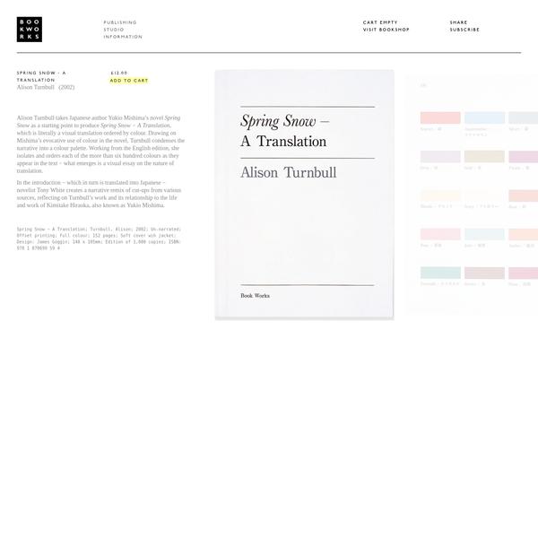 Spring Snow − A Translation | Book Works