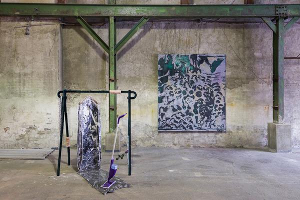 2013.11 Garage Show, Installation view of Alex Da Corte and Chris Martin