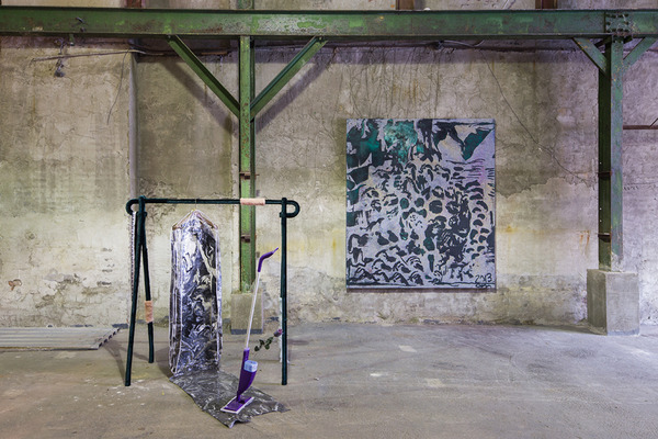 2013.11 Garage Show, Installation view of Alex Da Corte and Chris Martin