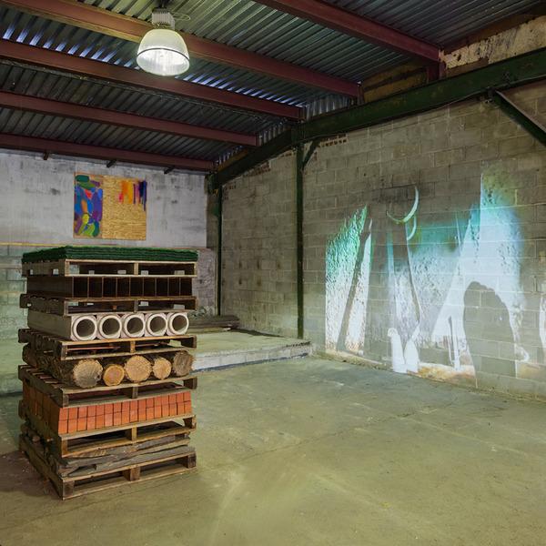 2013.11 Garage Show, Installation view of Charles Harlan, Sarah Braman and Dan Herschlein
