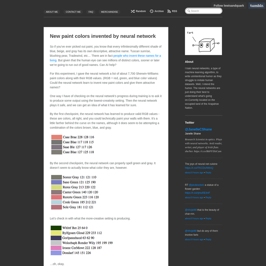 are na new paint colors invented by neural network