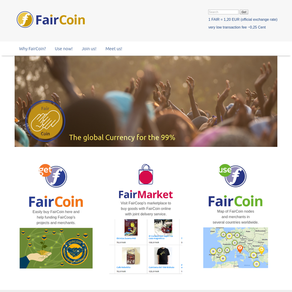 FairCoop, as a complex and pluralistic movement, has achieved more than simply the growth in price of FairCoin. FairCoop continues to connect with real people, in a real economy of sustaining local nodes, which is becoming more and more connected on common grounds, such as the fair trade of goods and services between these nodes.