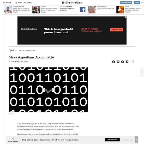 Opinion   Make Algorithms Accountable