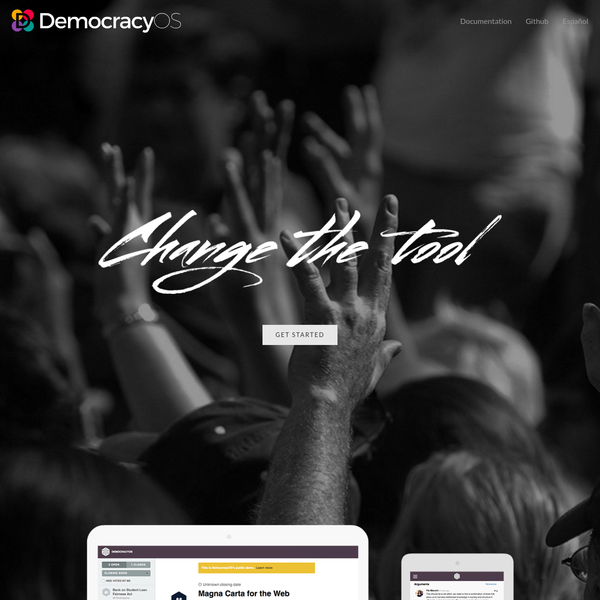 Create your DemocracyOS in a click. Build proposals and be the change you want to see.