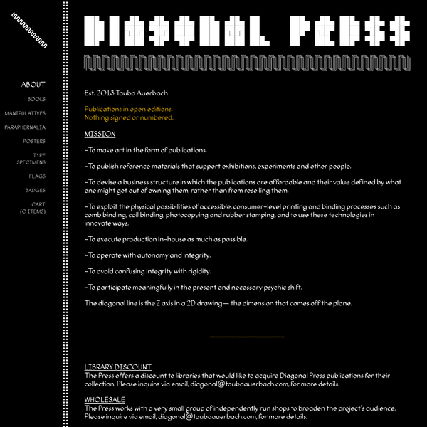 About | Diagonal Press