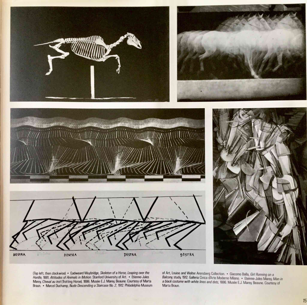 From Making Good Time: Scientific Management, The Gilbreths, Photography and Motion, Futurism. by Mike Mandel. 1989