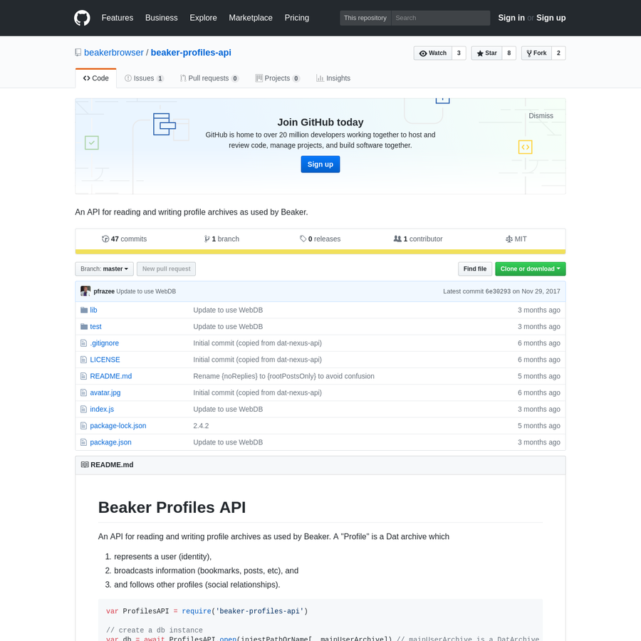 beaker-profiles-api - An API for reading and writing profile archives as used by Beaker.