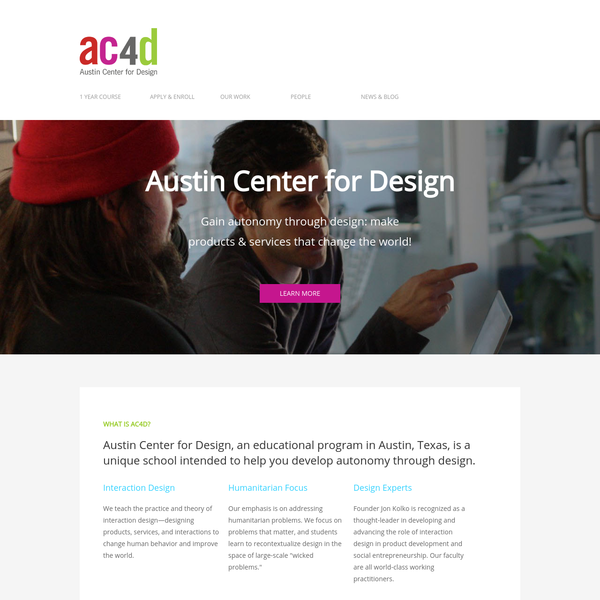 Design Is For Everyone, And Our Students Have A Variety Of Backgrounds.  Some Of. Austin Center For Design
