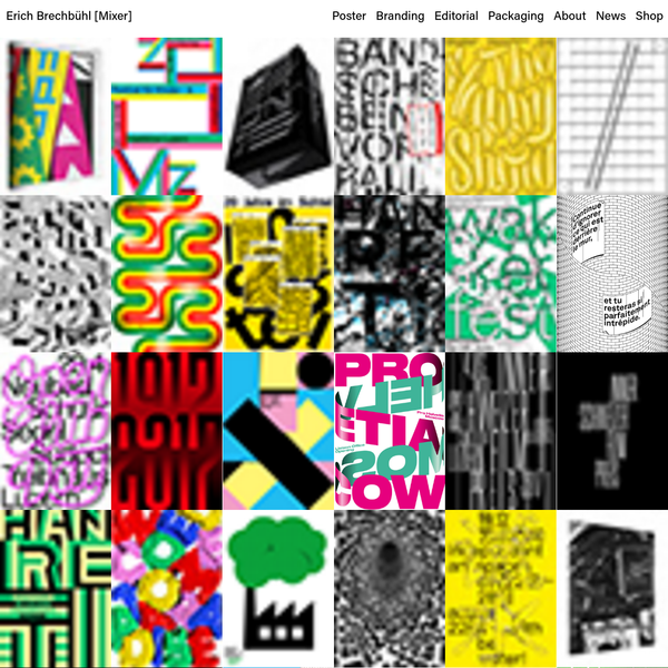 Erich Brechbühl [Mixer] is a Lucerne based independent graphic designer focused on poster and corporate design.