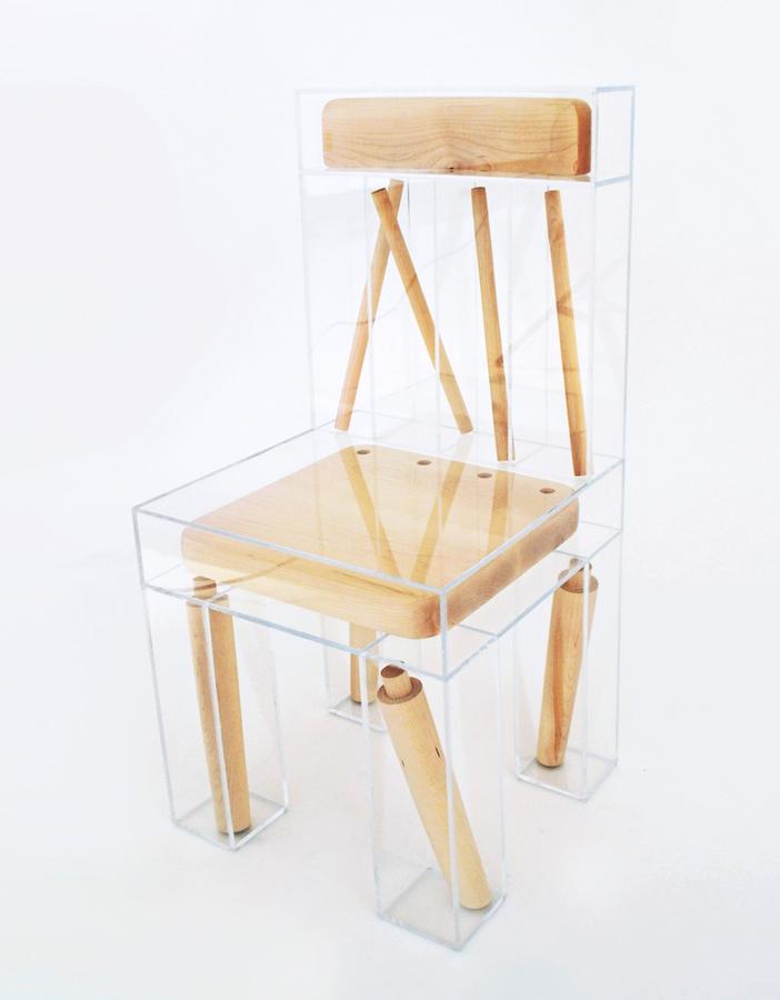 Exploded chair by Joyce Lin