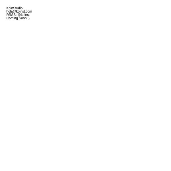 Koln St. - Graphic Design and Visual Communication