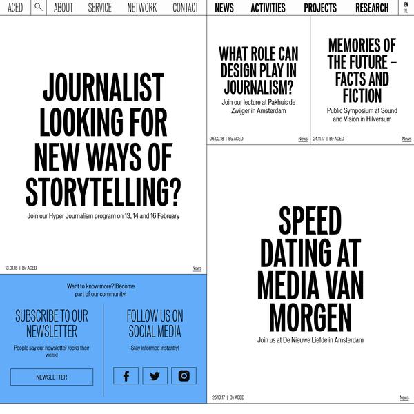 ACED | Platform voor Design and Journalism