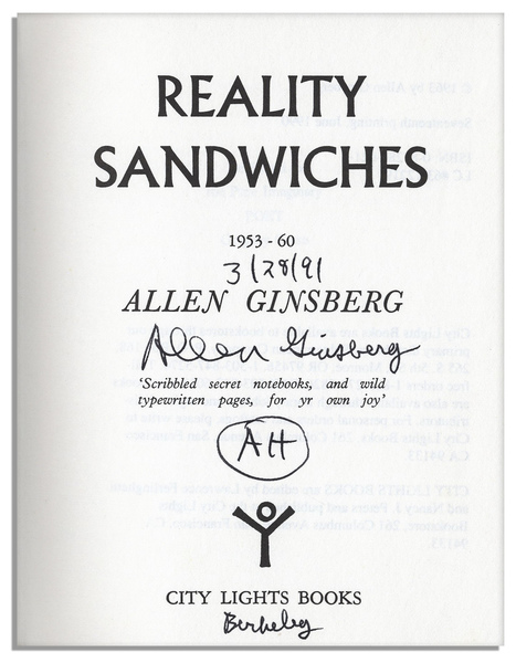 *Reality Sandwiches* by Allen Ginsberg, 1963  Recommended by [George Clarke](https://thecreativeindependent.com/people/george-clarke-on-slowing-down/)