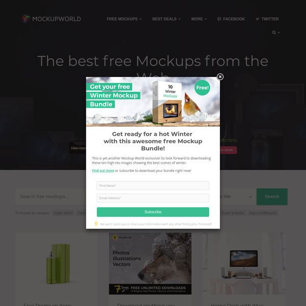 Mockup World | The best free Mockups from the Web