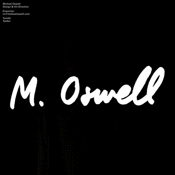 Michael Oswell is a graphic designer.