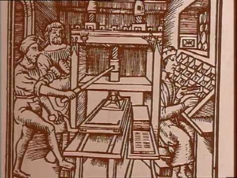 Au milieu du XVe siècle, Gutenberg en réunissant, améliorant et coordonnant des techniques éparses utilisées à d'autres fins, inventa la presse à imprimer, une innovation d'une grande importance qui permit la diffusion de nombreux exemplaires de la Bible et favorisa par la reproduction d'ouvrages les idées de la Réforme.