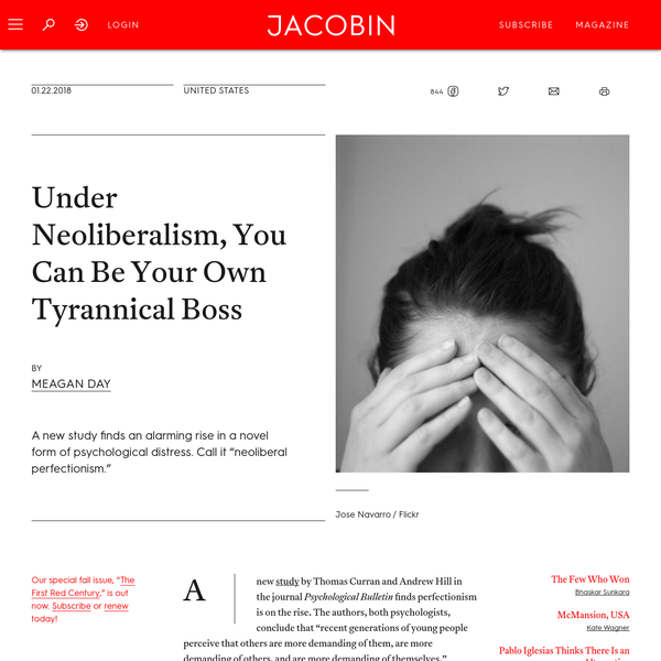 Under Neoliberalism, You Can Be Your Own Tyrannical Boss