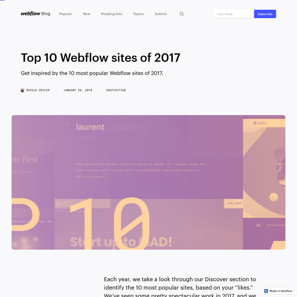 Are na / webflow tips and tricks