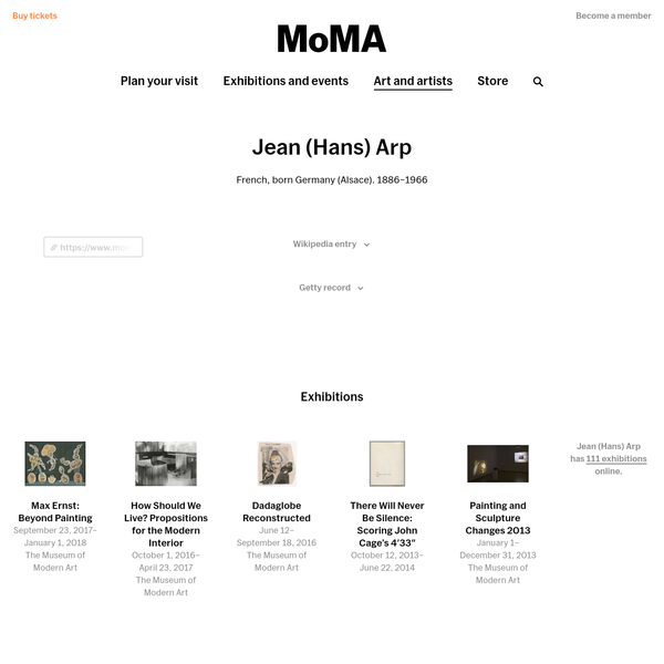 Jean (Hans) Arp | MoMA